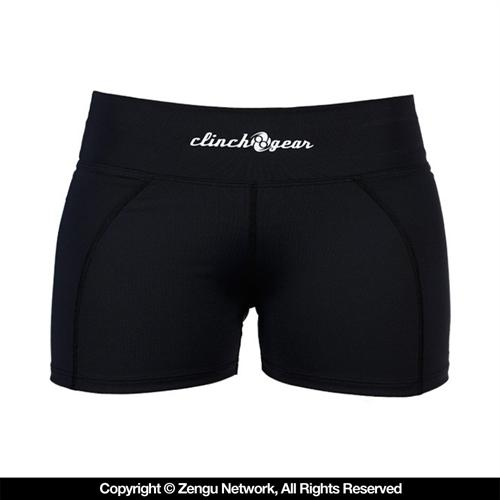 Clinch Gear Clinch Gear Women's Black Compression Shorts